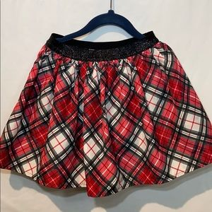 Sonoma Dresses - Girls Red Plaid Taffet Short Skirt By Sonoma 6X